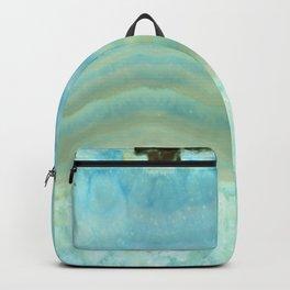 Turquoise Aquamarine Blue Gem Stone Agate Crystal Backpack