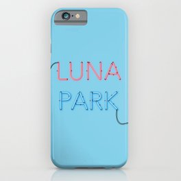 LUNA PARK - cyan strong iPhone Case