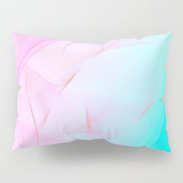 Pastel Motion Vibes - Pink & Turquoise #abstractart #homedecor Pillow Sham