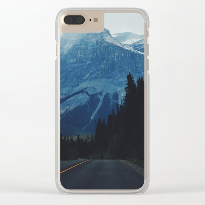 Canadian Road II Clear iPhone Case
