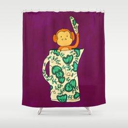 Dinnerware sets - Monkey in a jug Shower Curtain
