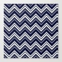 Maritime pattern- chevron - white and darkblue by simplicity_of_live