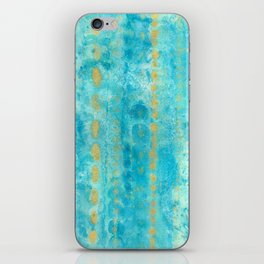 Gold in Deep Turquoise watercolor art iPhone Skin