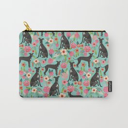 Italian Greyhound pet friendly pet portraits dog art custom dog breeds floral dog pattern Carry-All Pouch