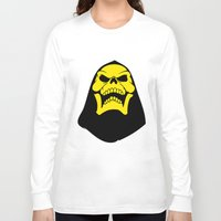 skeletor Long Sleeve T-shirts featuring Skeletor. by Glassy