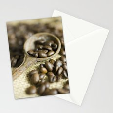 Old coffee beans spoon Stationery Cards