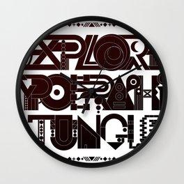 Explore The Typographic Jungle Wall Clock