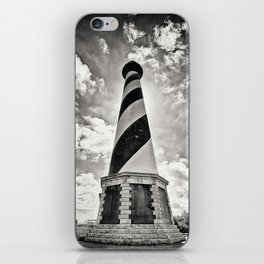 Cape Hatteras Lighthouse, Outer Banks NC (Black & White/Sepia-toned) iPhone Skin