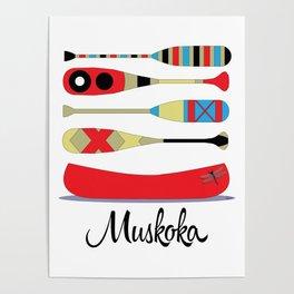 Muskoka Canoe Poster