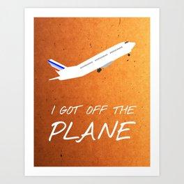 Friends 20th - Plane Art Print