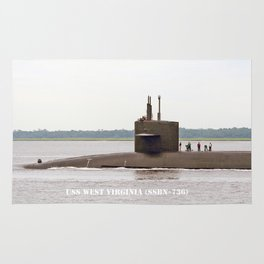 USS WEST VIRGINIA (SSBN-736) Rug