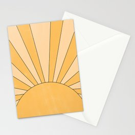 yellow abstract sunrise Stationery Cards
