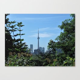 CN Tower from Casa Loma Canvas Print