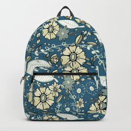 Teal Trail Floral Toss Backpack