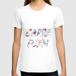 Carpe Diem Color Ink T-shirt