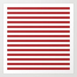 Simple Red & White Stripes Art Print