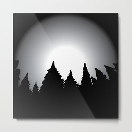 Black forest in mystical style Metal Print