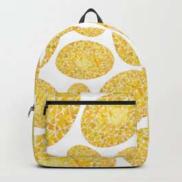 Yellow Oval Gem Pattern Backpack