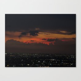 A Sky On Fire Canvas Print