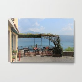 Bicycle at the Ristorante in Italy Metal Print