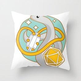 Cleric Snake (D&D Class Snakes) Throw Pillow