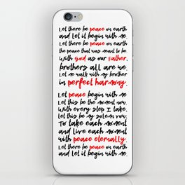 Let There Be Peace on Earth iPhone Skin