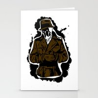 watchmen Stationery Cards featuring  Rorschach (Watchmen) by  Steve Wade ( Swade)