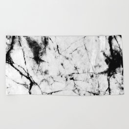 Marble Concrete Stone Texture Pattern Effect Dark Grain Beach Towel
