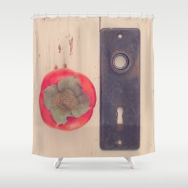 Persimmon and the Missing Key Shower Curtain