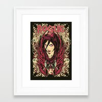 rogue Framed Art Prints featuring Rogue by Tshirt-Factory