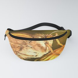 Meadow Brown Beautiful Butterfly Portrait Fanny Pack