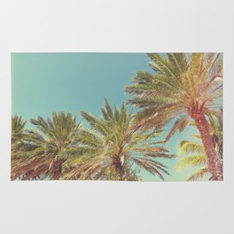 Retro Summer Palm Trees Rug