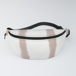 Medium Brush Strokes Vertical Nude on Off White Fanny Pack