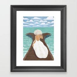 Maldives Pier Framed Art Print