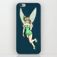 tinker bell iPhone & iPod Skins featuring Tinker Bell Selfie by Hungry Designs