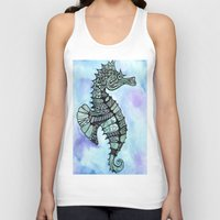 tatoo Tank Tops featuring Tatoo Seahorse by PepperDsArt