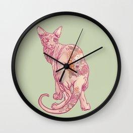 Skinny Cat Wall Clock