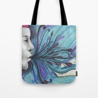mouth Tote Bags featuring Mouth by Mighty Truth