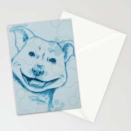 Happy PitBull Stationery Cards