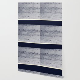 Navy Blue Pale Yellow on Navy Blue Concrete #1 #decor #art #society6 Wallpaper