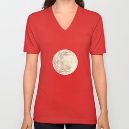 The Flower of Life Moon 2 Unisex V-Neck