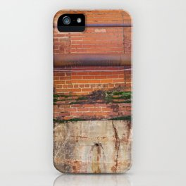 The grass is greener on the brick side iPhone Case