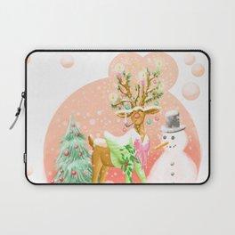 Reindeer Before Christmas Laptop Sleeve