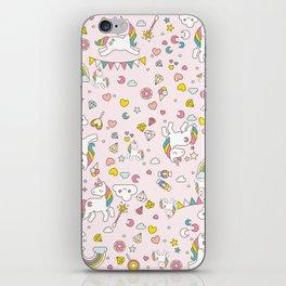 Unicorn Pattern iPhone Skin