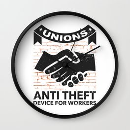 Labor Union of America Pro Union Worker Protest Light Wall Clock
