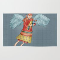 angel Area & Throw Rugs featuring Angel by Catru