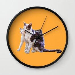 Tail Hug Wall Clock
