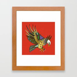 jewel eagle fire Framed Art Print