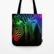 Rainbow Zebra Tote Bag