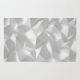 White polygonal landscape Rug